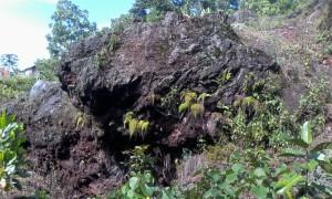 Warna batu mayasih yang pernah dijadikan bahan pondasi bangunan